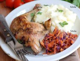 Roast Chicken with mashed potato